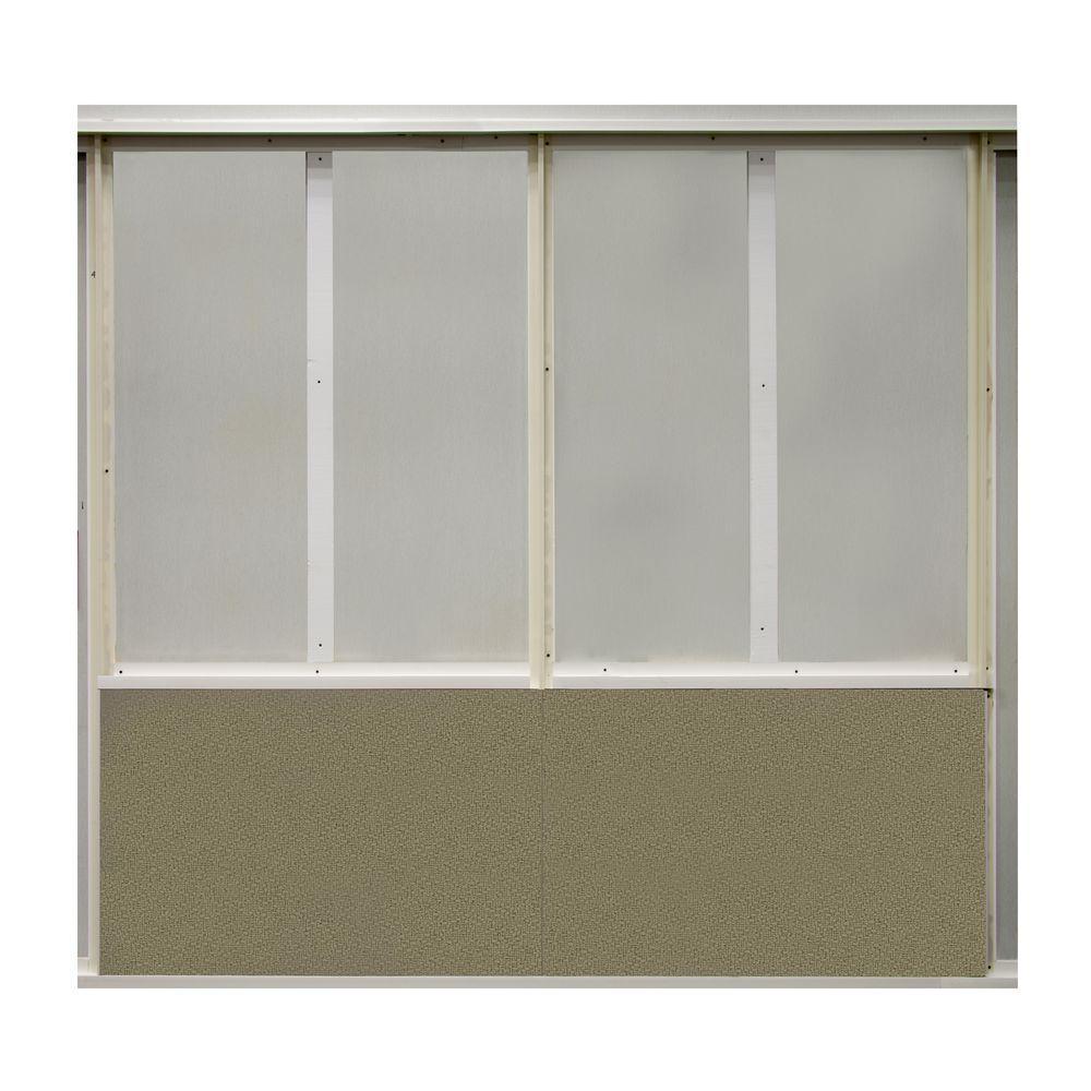 20 sq. ft. Cumin Fabric Covered Bottom Kit Wall Panel