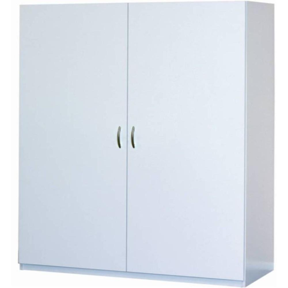 ClosetMaid 80 in. H x 48 in. W x 16 in. D White & ClosetMaid 80 in. H x 48 in. W x 16 in. D White Melamine Jumbo ...