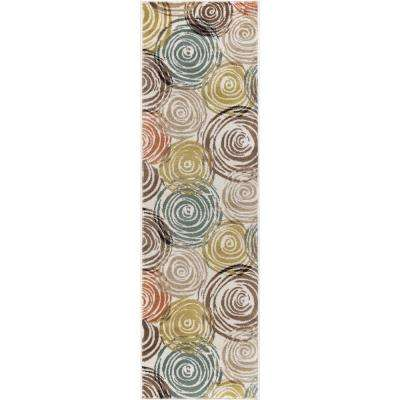 Deco Ivory 2 ft. x 10 ft. Runner Rug
