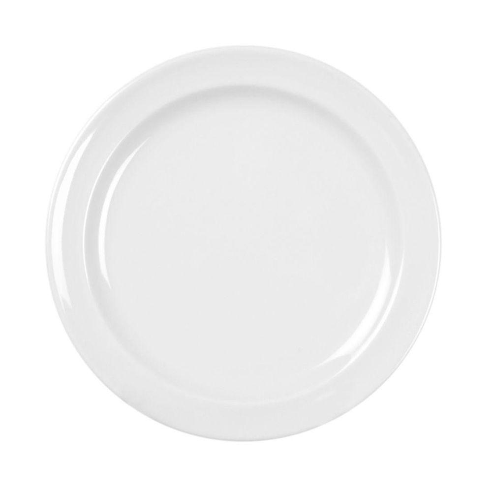 Coleur 5-1/2 in. Plate in White (12-Piece)