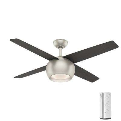 Valby 54 in. LED Indoor Matte Nickel Ceiling Fan