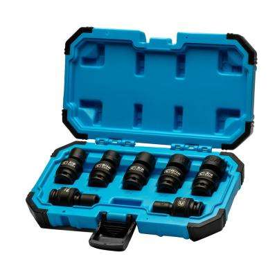 3/8 in. Drive SAE Universal Impact Socket Set (7-Piece)