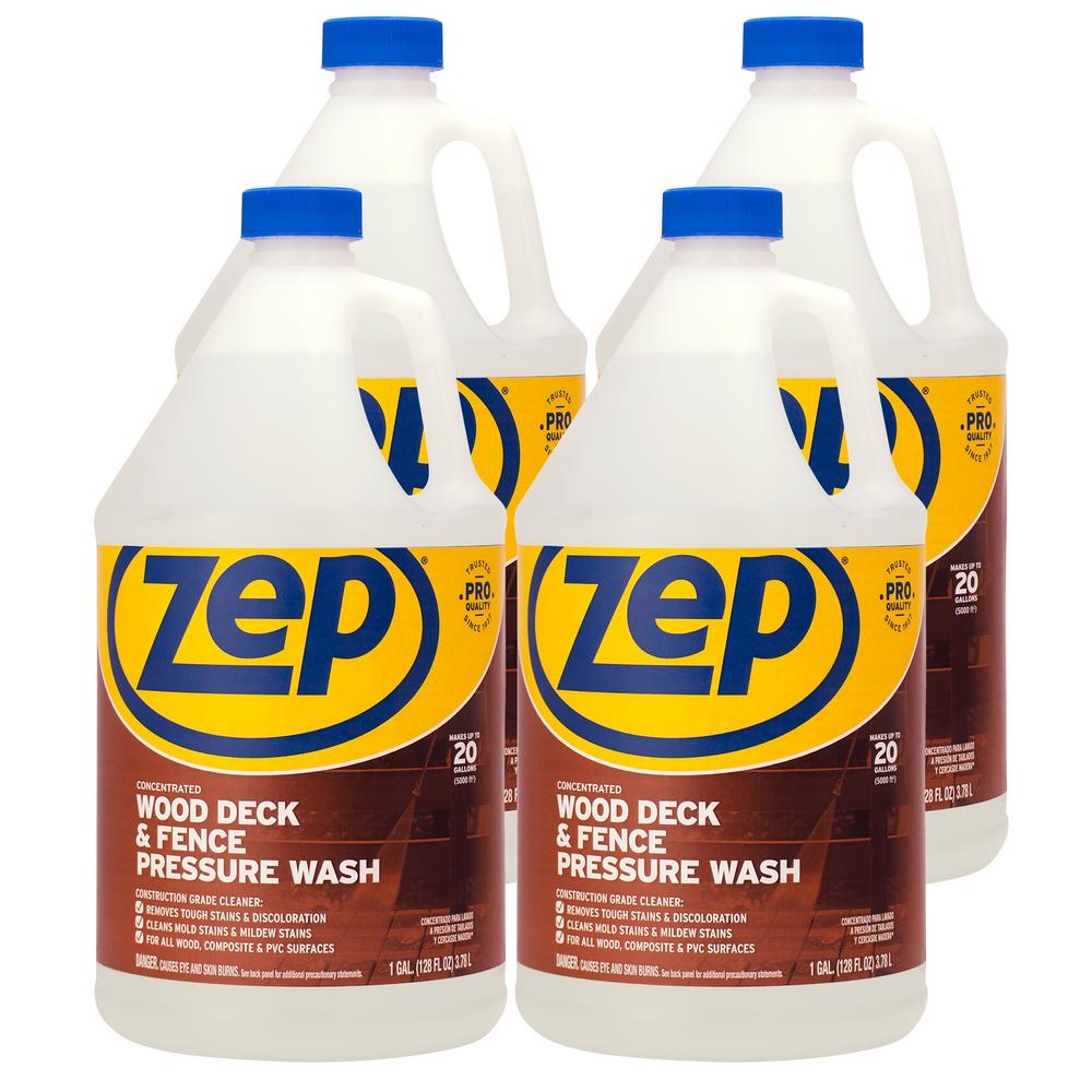 ZEP 1 Gallon Deck and Fence Cleaner (Case of 4)