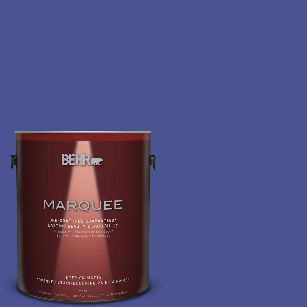 1 gal. #P540-7 Canyon Iris One-Coat Hide Matte Interior Paint