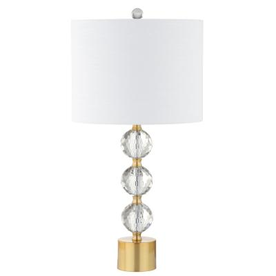 Ashley 25.25 in. Crystal Table Lamp, Clear/Brass