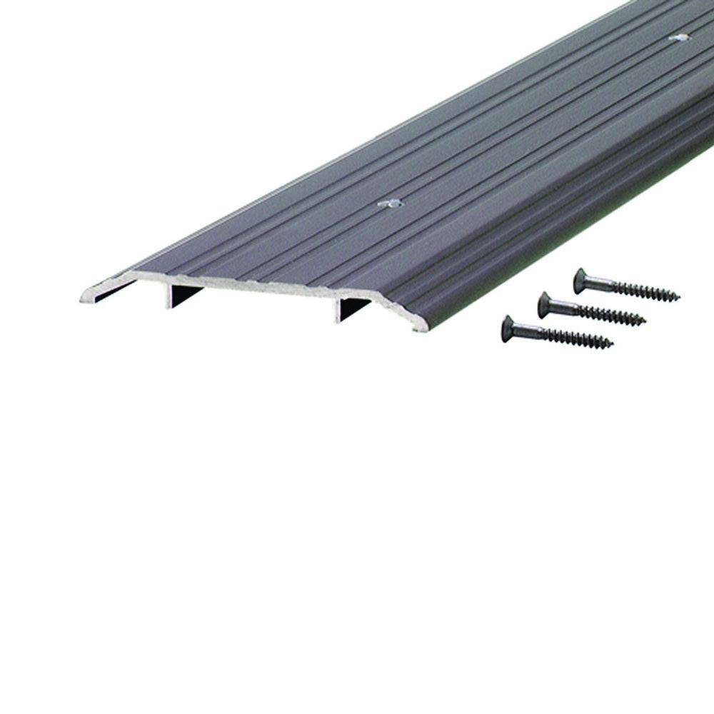 Fluted Saddle 5 in. x 24-1/2 in. Bronze Aluminum Commercial Threshold