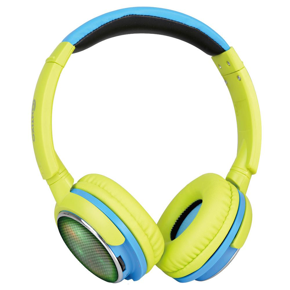 Contixo Kb300 Kid Safe 85db Over The Ear Wireless Bluetooth Led Headphone Volume Limiter Built In Microphone Micro Sd Green Kb 300 Green The Home Depot