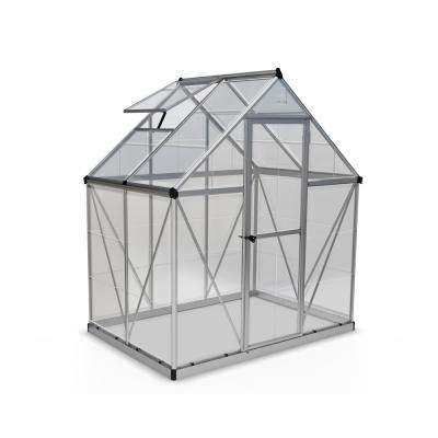 Harmony 6 ft. x 4 ft. Polycarbonate Greenhouse in Silver