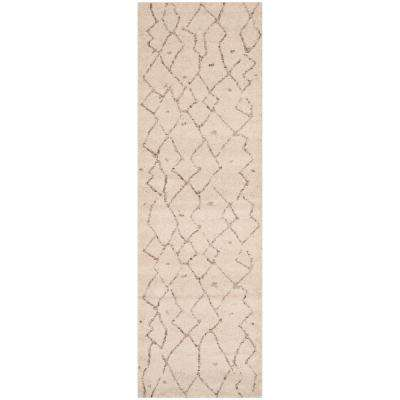Tunisia Ivory 3 ft. x 10 ft. Runner Rug