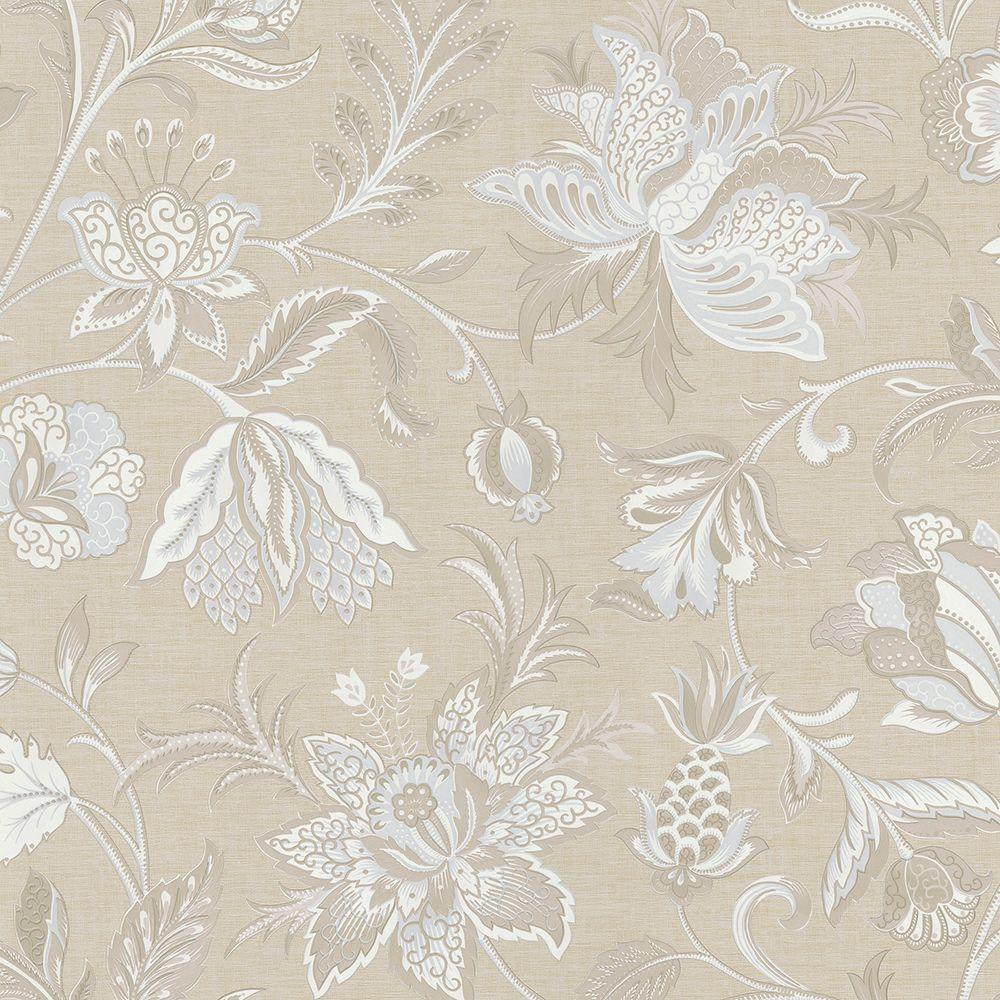 Brewster Hollie Blue Jacobean Wallpaper 2686 58620 The Home Depot