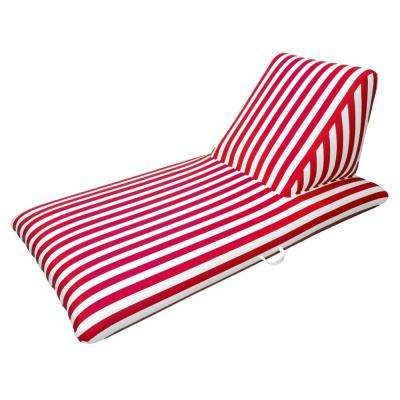 Morgan Dwyer Signature Series Pool Chaise Lounge - Red Luxury Fabric Swimming Pool Float