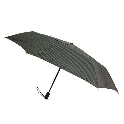 44 in. Arc Windguard Travel Umbrella in Black Millenium