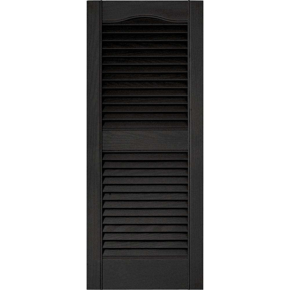 Builders Edge 15 In. X 36 In. Louvered Vinyl Exterior