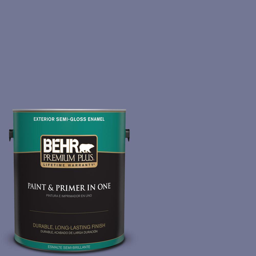 1-gal. #S560-5 Royal Fortune Semi-Gloss Enamel Exterior Paint
