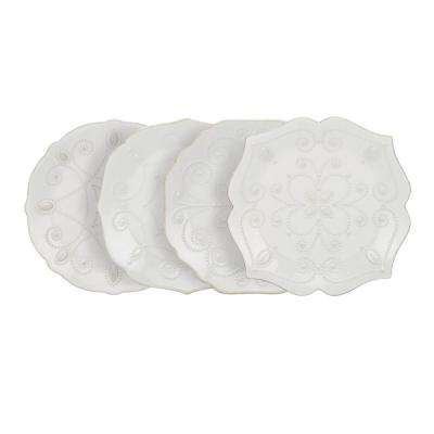 French Perle White Assorted Plates (Set of 4)