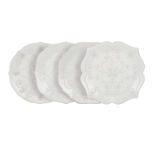 Lenox French Perle White Assorted Plates (Set of 4) 829072