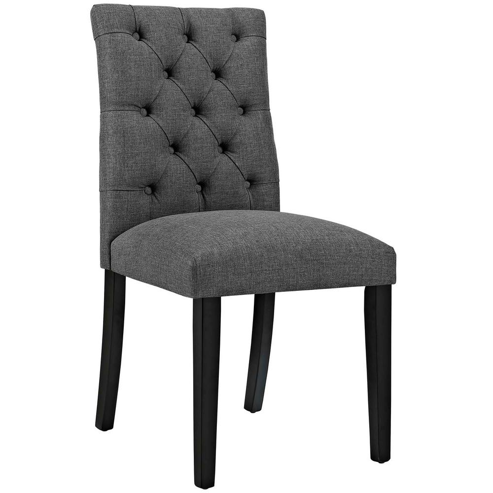 Modway Regent Gray Fabric Dining Chair Eei 2223 Gry The