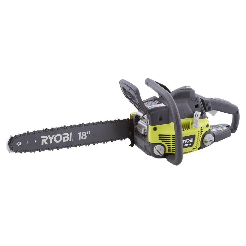 Ryobi 18 in 46 cc 2 cycle gas chainsaw ry10519b the home depot ryobi 18 in 46 cc 2 cycle gas chainsaw greentooth Images