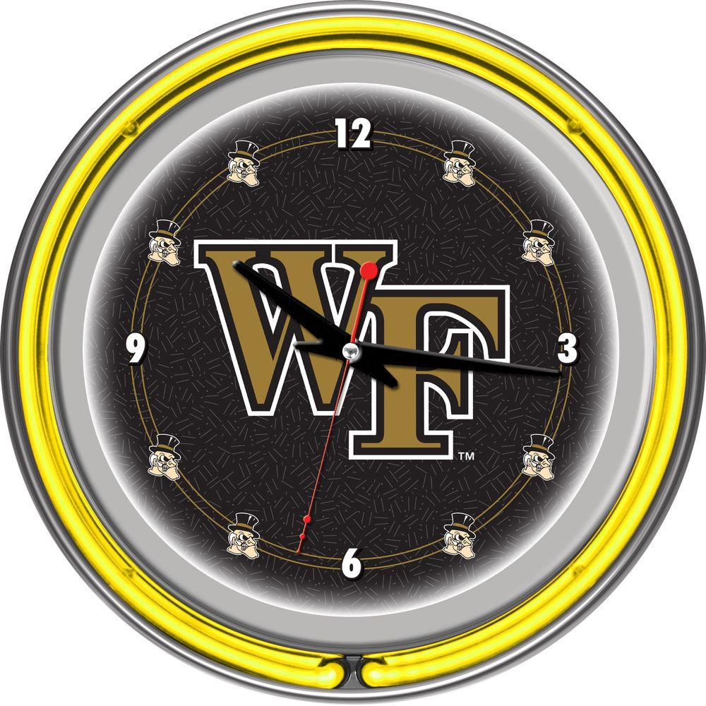 Trademark 14 in. Wake Forest University Neon Wall Clock