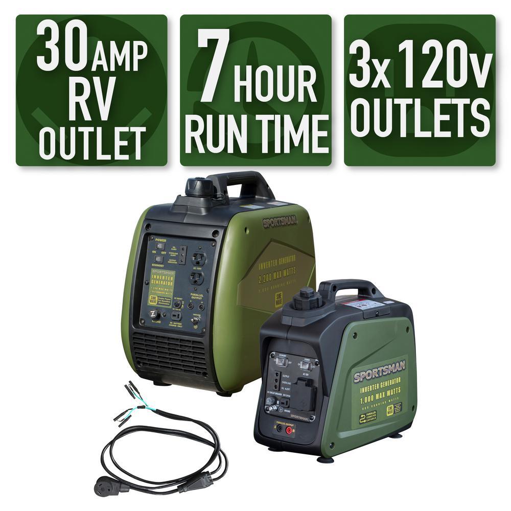 3,000-watt/2,500-watt Gasoline Powered Portable Inverter Generator Kit with Parallel Kit