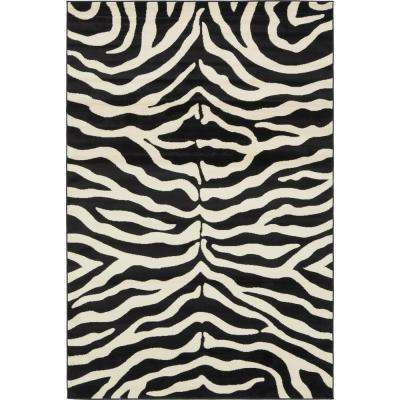 Safari Black 6 ft. x 9 ft. Area Rug