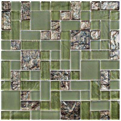 Tessera Versailles Ranier 11-3/4 in. x 11-3/4 in. x 8 mm Glass Mosaic Tile