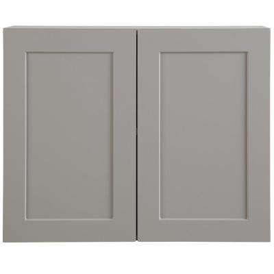 Cambridge Assembled 30x24x12.5 in. Wall Cabinet in Gray
