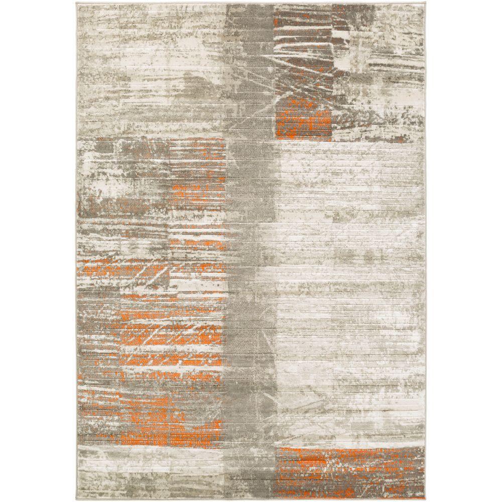 Orillri Burnt Orange 5 ft. 2 in. x 7 ft. 6 in. Indoor Area Rug