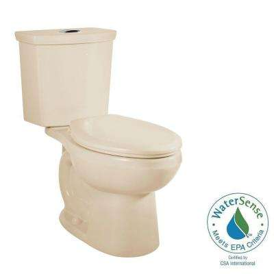H2Option Chair Height 2-piece 0.92/1.28 GPF Dual Flush Elongated Toilet with Liner in Bone