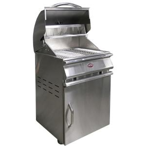 Cal Flame Charcoal Grill Cart in Stainless Steel from Charcoal Grills