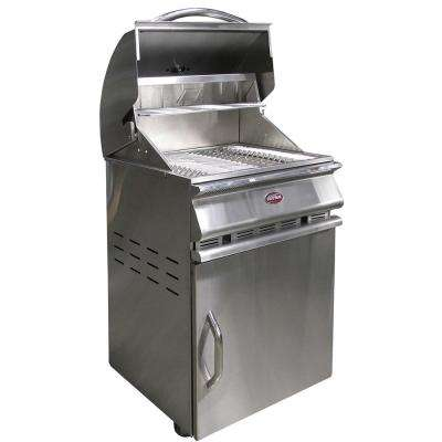 Charcoal Grill Cart in Stainless Steel