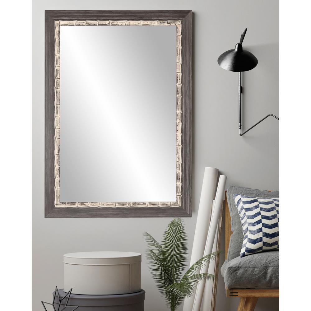 BrandtWorks 32 in. x 35.5 in. Modern Coastal Accent Mirror ...