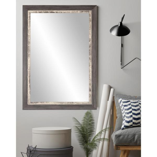 BrandtWorks 32 in. x 35.5 in. Modern Coastal Accent Mirror AV21MED