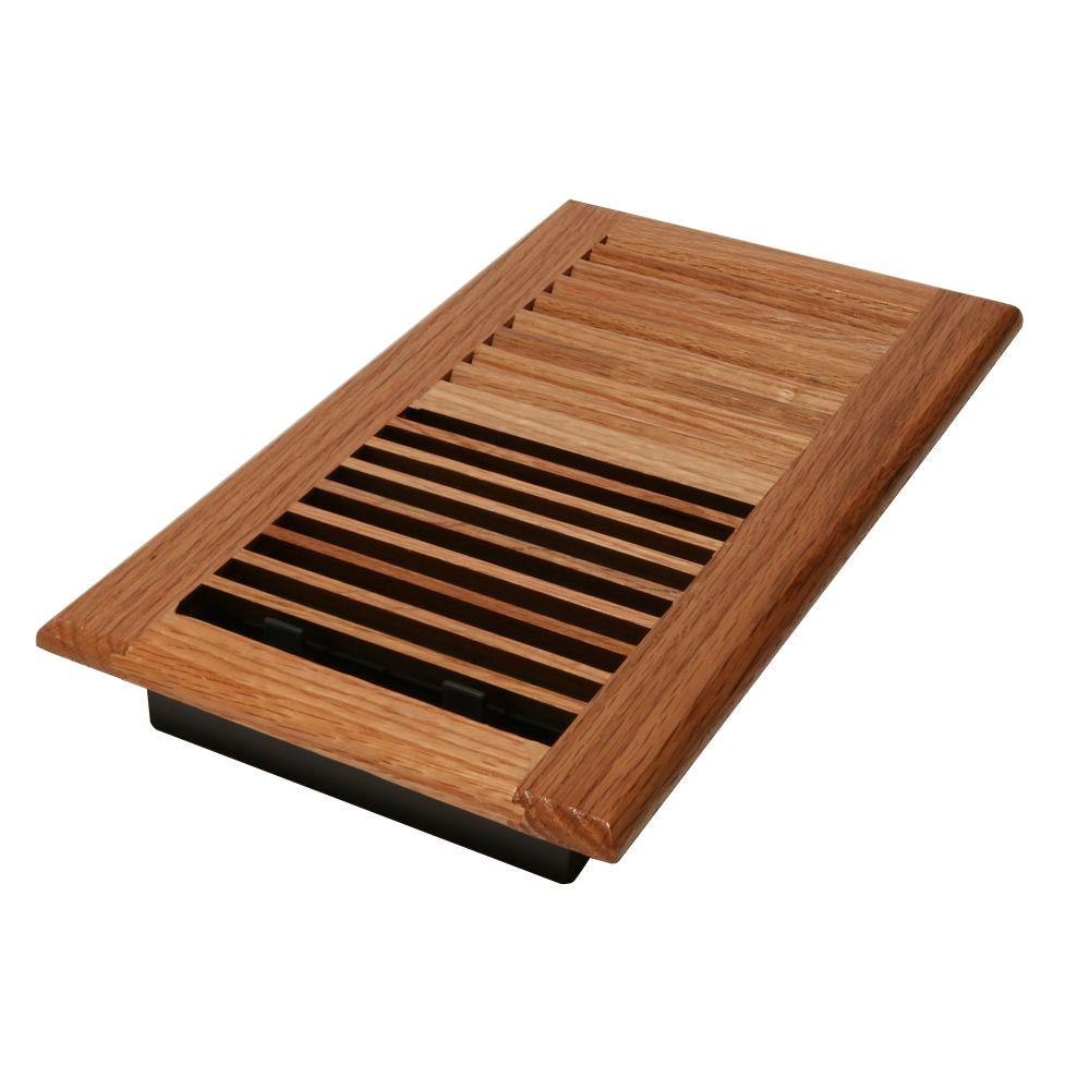 Decor Grates 6 in. x 14 in. Wood Oak Natural Wall Register-WL614W ...