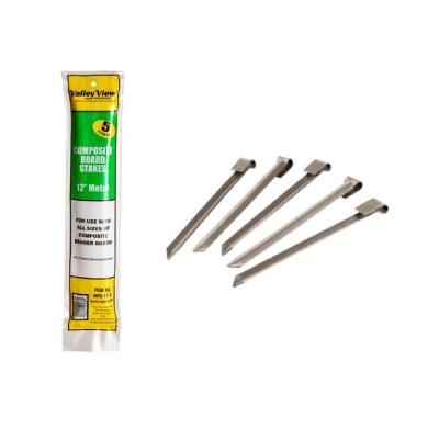 10 in. to 12 in. Composite Bender Board Metal Stakes (2 Bags of 5 Stakes Per Bag)