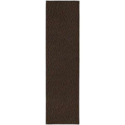 Ivy 3 Ft. x 12 Ft. Area Rug Runner Chocolate