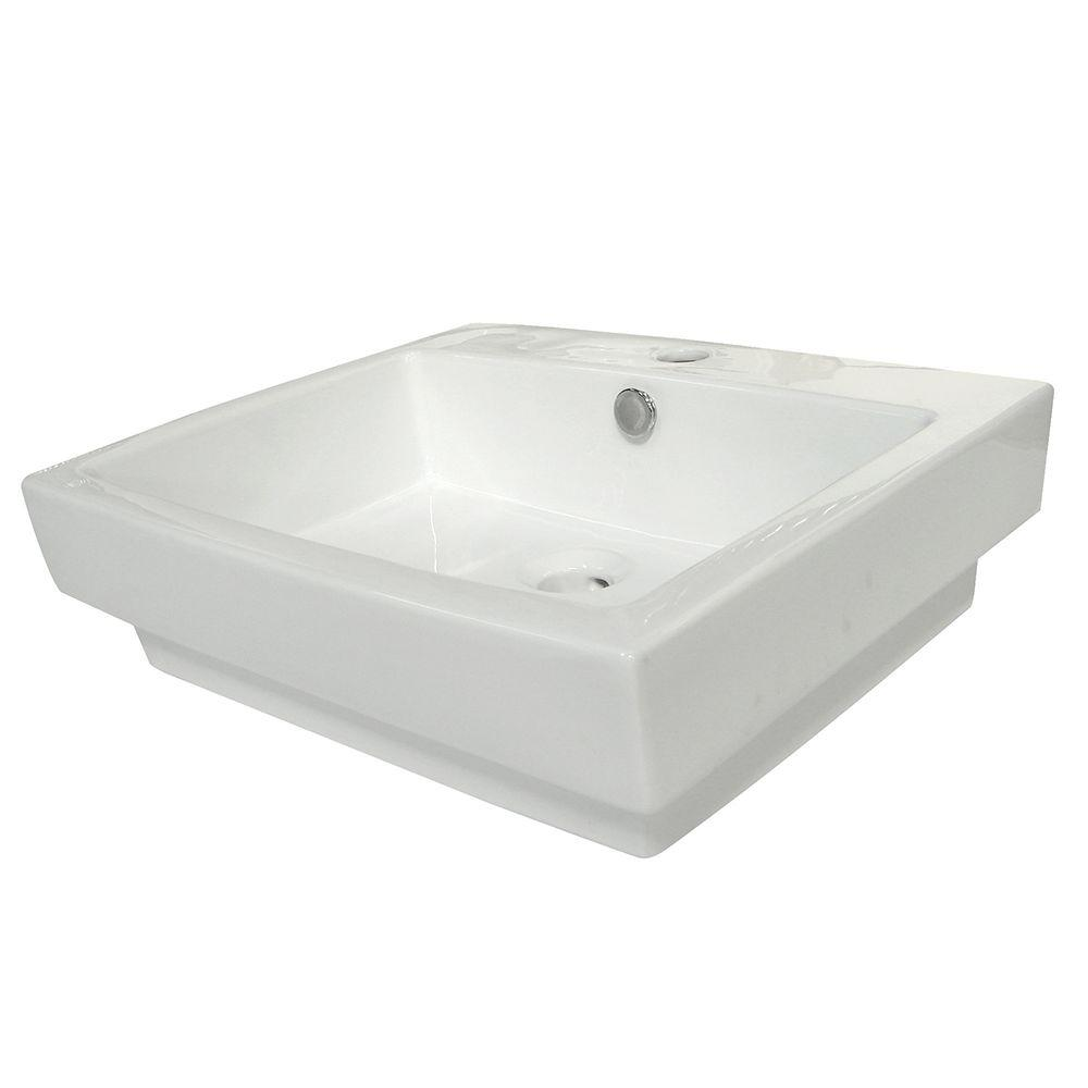 Console Sink Basin In White