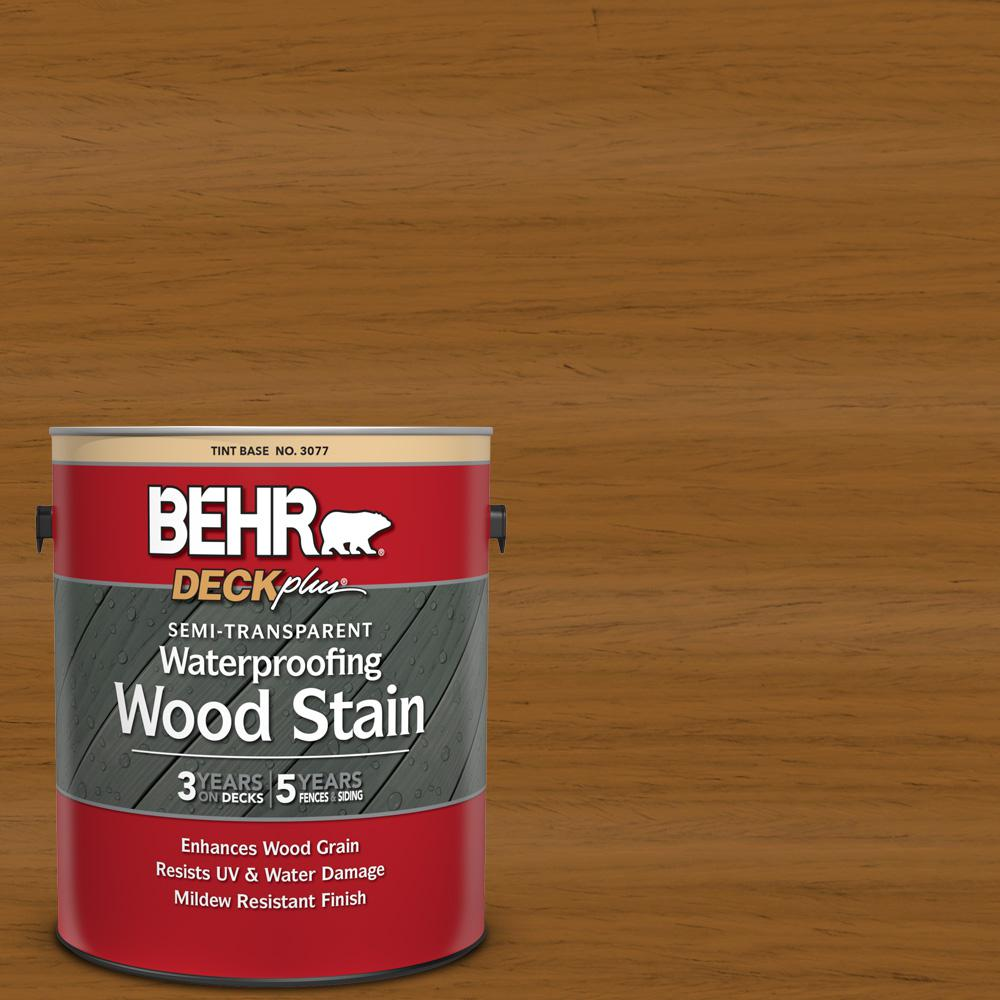 Behr Deckplus 1 Gal St 134 Curry Semi Transparent Waterproofing Exterior Wood Stain