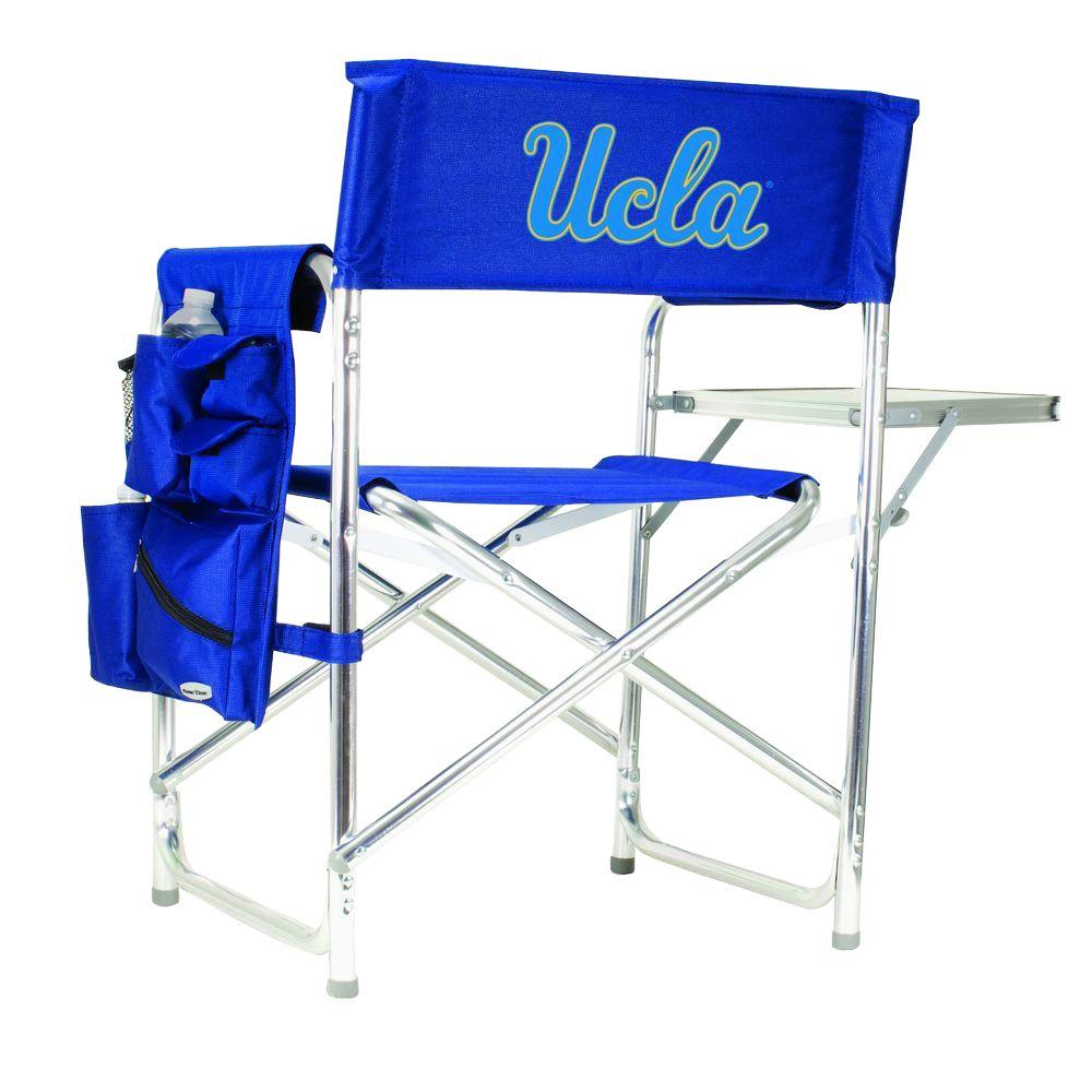 Picnic Time University of California-Los Angeles Navy Sports Chair with Digital Logo