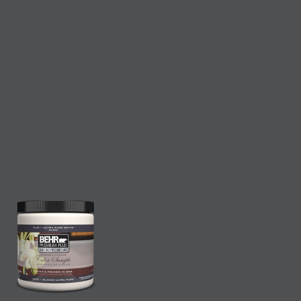 BEHR Premium Plus Ultra 8 oz. #UL260-1 Cracked Pepper Interior/Exterior Paint Sample