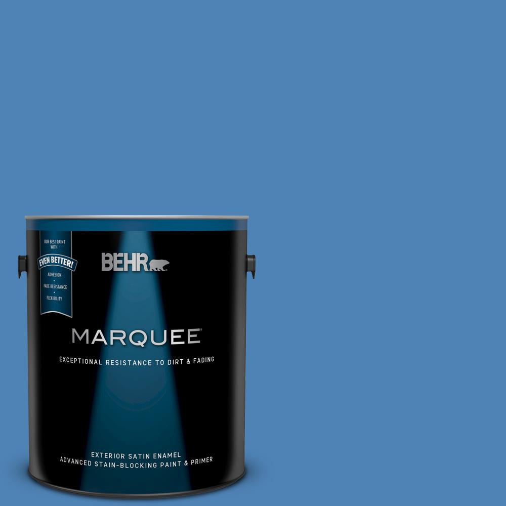 Ppu15 06 Neon Blue Satin Enamel Exterior Paint And