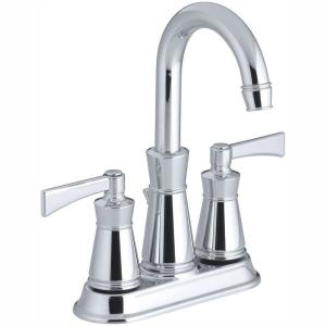 Archer 4 in. Centerset 2-Handle Low-Arc Water-Saving Bathroom Faucet in Polished Chrome