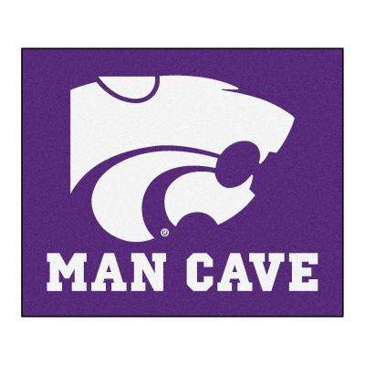 Kansas State University Purple Man Cave 5 ft. x 6 ft. Area Rug