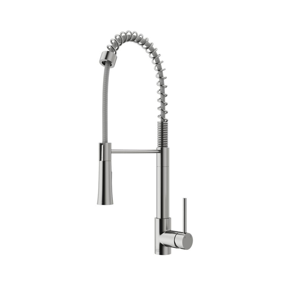 Superb VIGO Laurelton Single Handle Pull Out Sprayer Kitchen Faucet In Stainless  Steel
