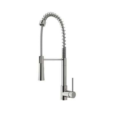 Laurelton Single-Handle Pull-Down Sprayer Kitchen Faucet in Stainless Steel