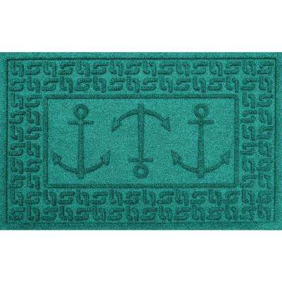 Aquamarine 24 in. x 36 in. Ahoy! Polypropylene Door Mat