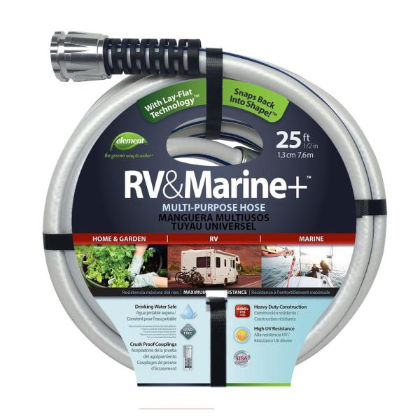 1//2 Inch Diameter x 25 Foot Boat and Camper Kink Free Water Hose Drinking Safe
