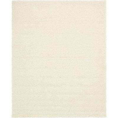 Solid Shag Snow White 8' x 10' Rug
