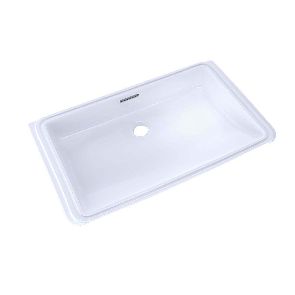 TOTO 21 in. Rectangular Undermount Bathroom Sink with CeFiONtect in Cotton White