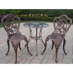 Hummingbird Antique Bronze 3-Piece Aluminum Outdoor Bistro Set